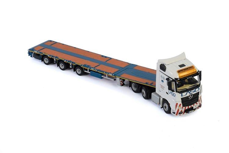 MB Actros MP4  Megatrailer Flatbed  Laso