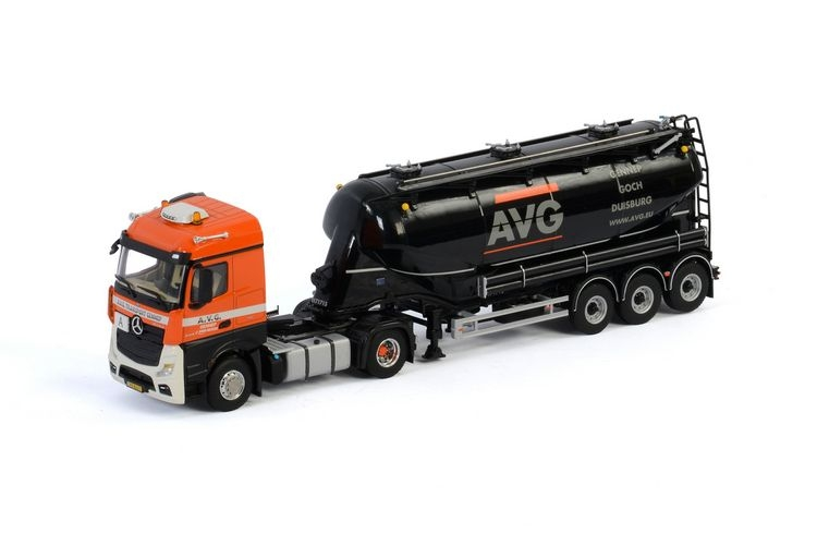 MB Actros MP4 Straem Space Bulk Trailer AVG Beheer