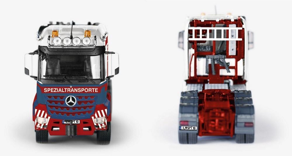 MB Arocs SLT-Schwerlastzugmaschine  Combimax Auflieger Spiegl