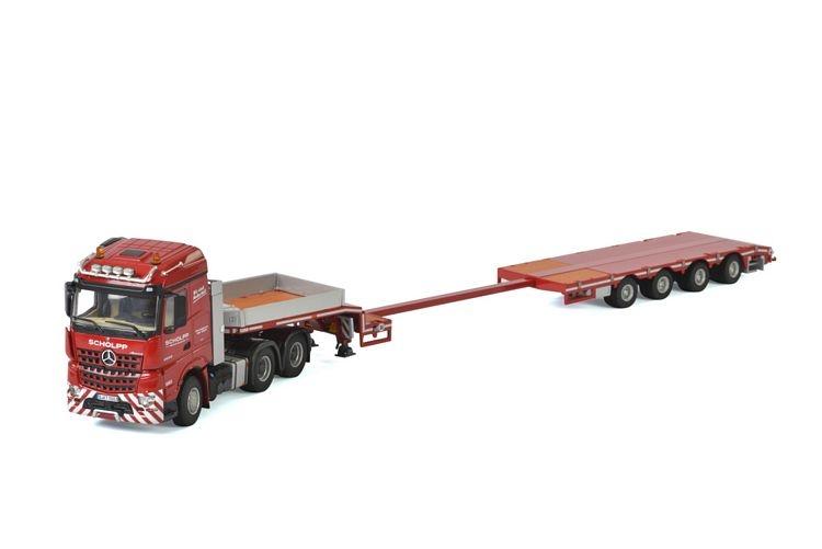 MB Arocs StreamSpace Goldhofer semi low loader Scholpp