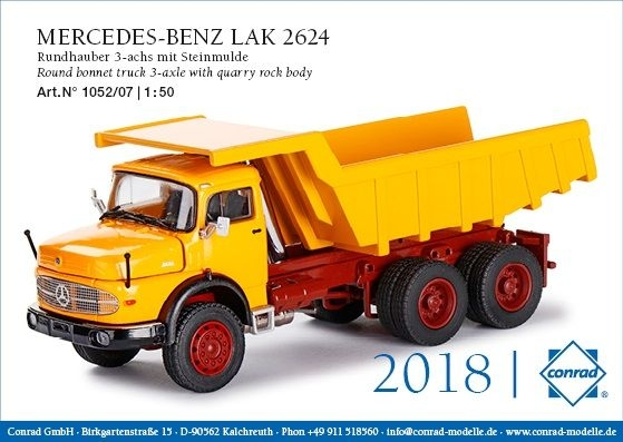 MB LAK 2624 Rundhauber Steinmulde gelb