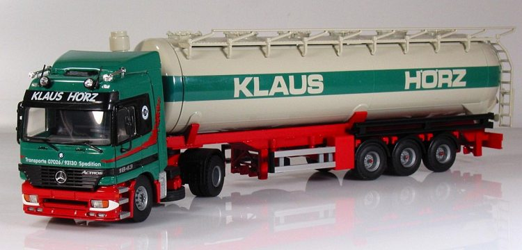 Atlas Truck Sales >> Mercedes Benz 2 achs mit 3 achs Tank auflieger Klaus Hörz Tekno 1:50 t 53010 1