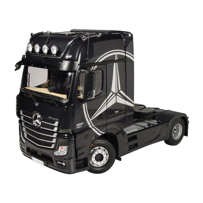 Mercedes Benz ACTROS 4x2 Sattelzugmaschine schwarz 1-18 NZG