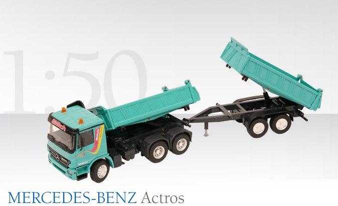 MERCEDES-BENZ Actros Dreiseitenkipper 3-achs mit Tandemkippanhän