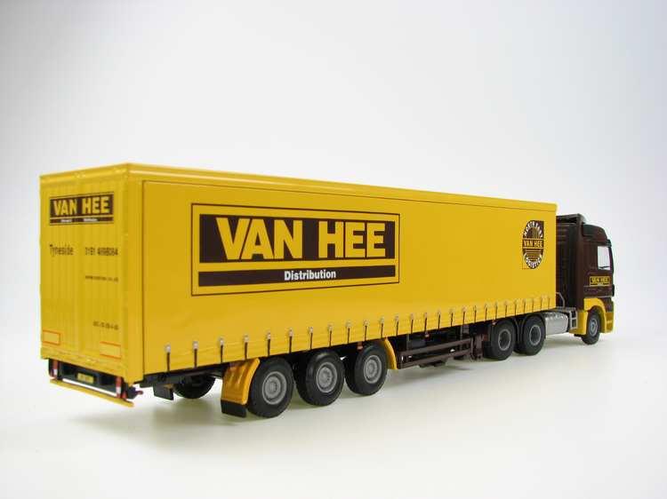 Mercedes-Benz Actros MS Curtenside trailer van Hee