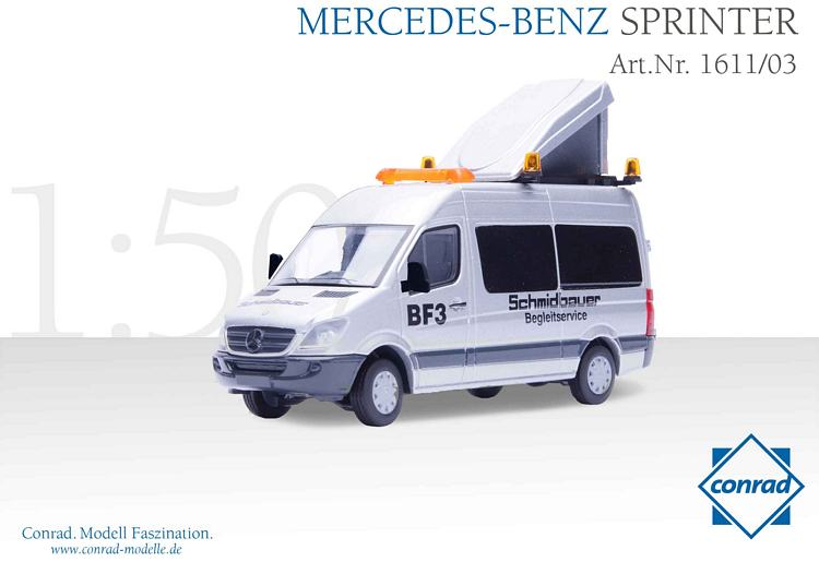 mercedes benz sprinter bf3 schmidbauer conrad modelle 1 50. Black Bedroom Furniture Sets. Home Design Ideas
