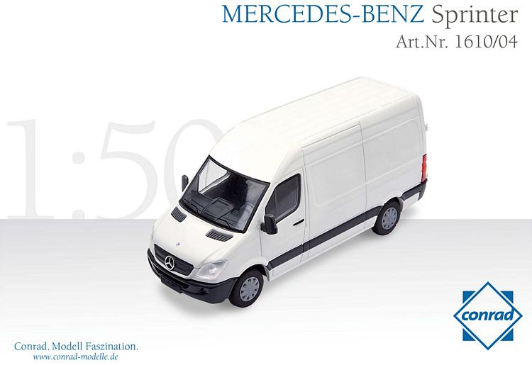 mercedes benz sprinter wei conrad modelle 1 50 con 1610 04 1. Black Bedroom Furniture Sets. Home Design Ideas