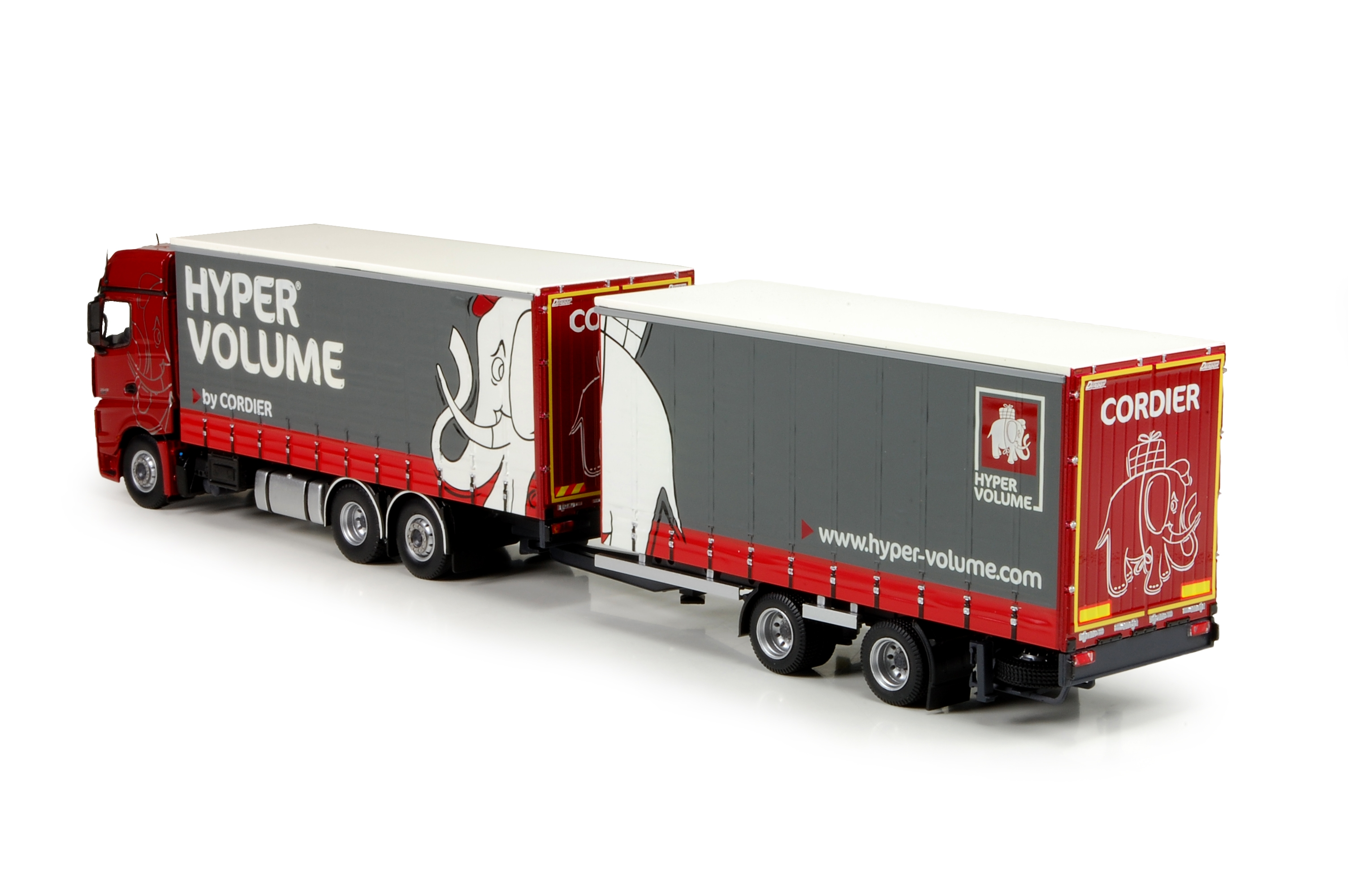 Mercedes Bigspace Curtainsider trailer Cordier