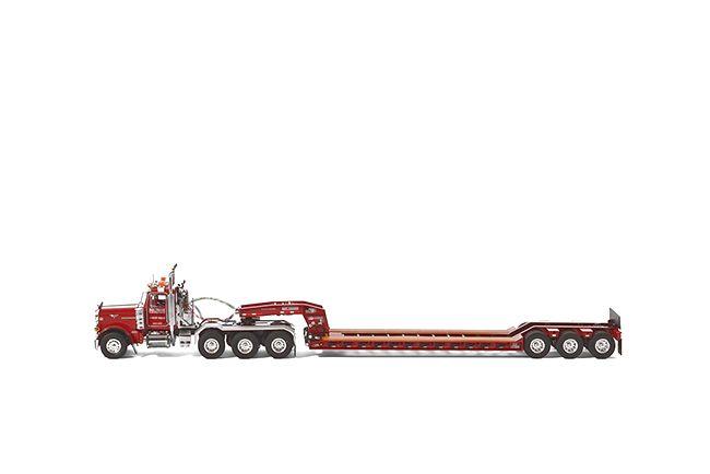 Peterbilt 379 Roger Lowboy  Bay Crane