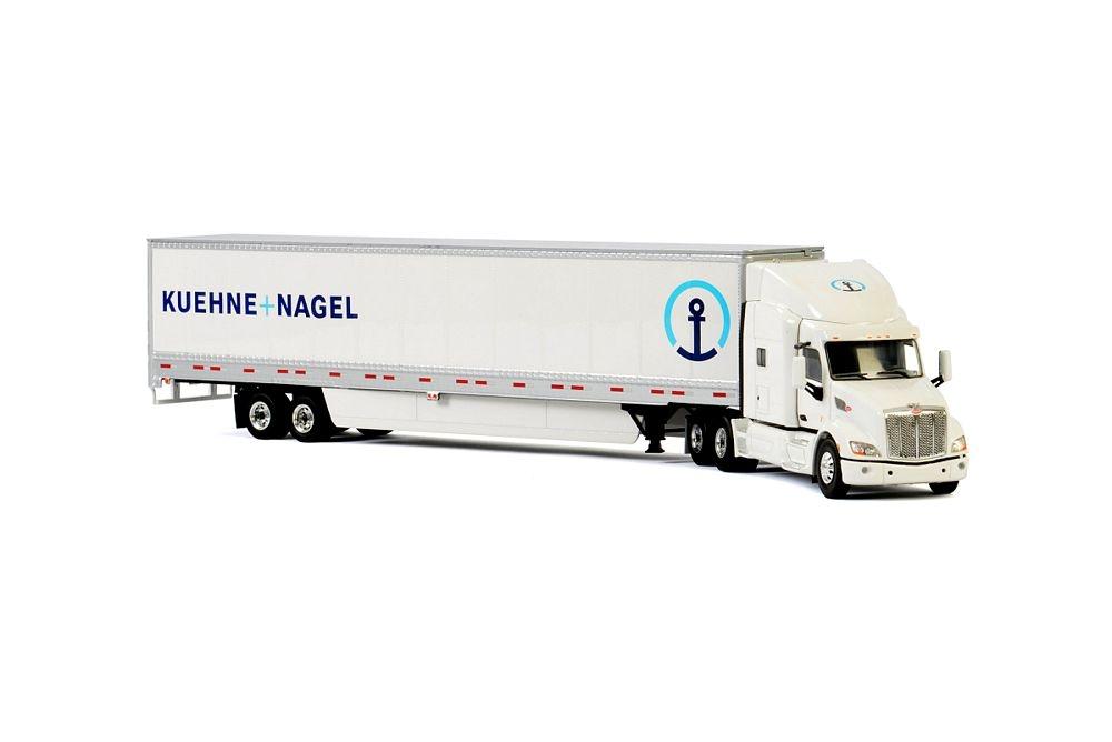 Peterbilt 579 Box Trailer 3 Axle Kuehne Nagel CH