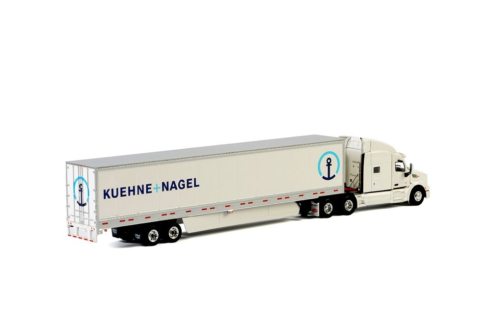 Peterbilt 579 Box Trailer 3 Axle Kuehne Nagel CH