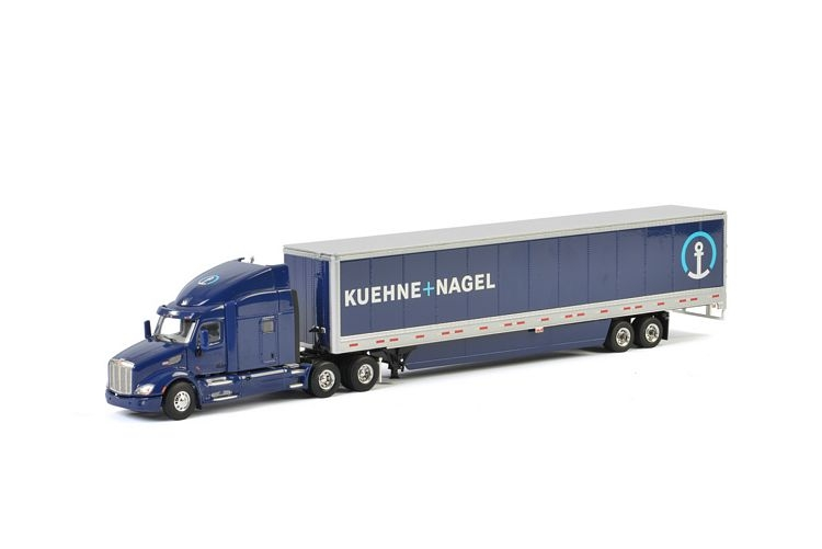 Peterbilt 579 Box Trailer 3 Axle Kuehne Nagel