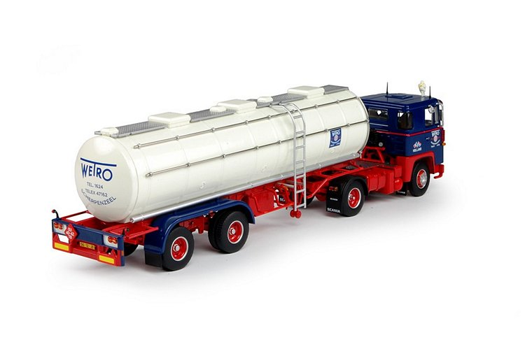 Scania 1-serie Tankauflieger Wetro