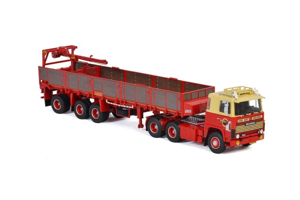 Scania 1 Series 6X2  Briick Trailer  Van Oort Dreumel