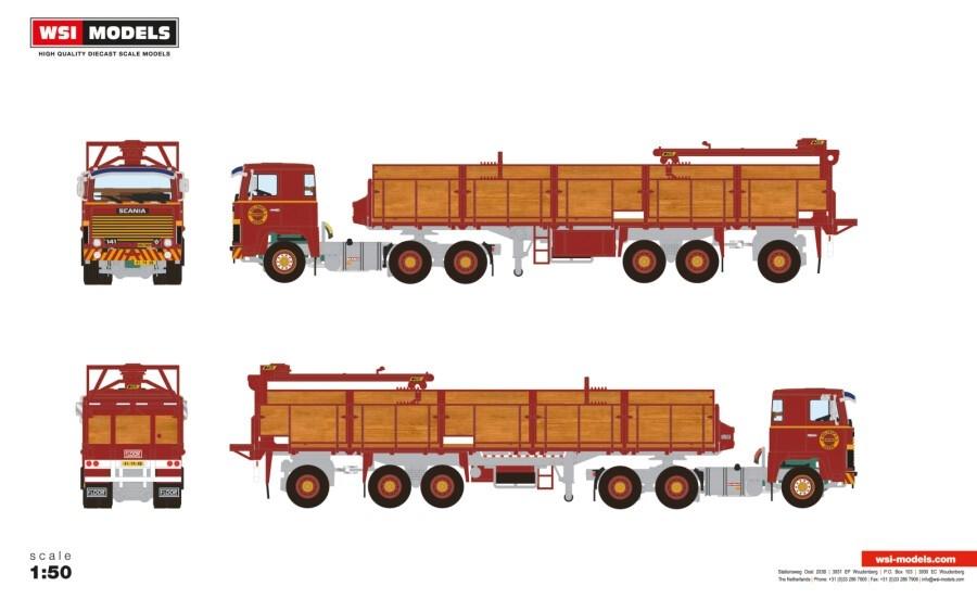 Scania 1 Series  Brick Trailer   Holtrop Assen