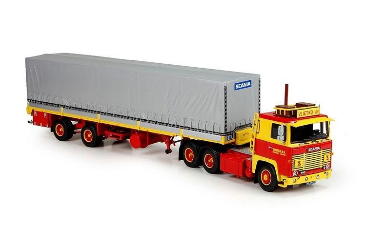 Scania 141  Classic tilt semitrailer Vlietko