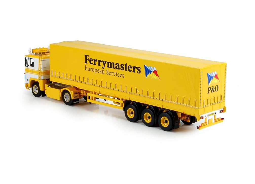 Scania 141 Schiebeplanen Auflieger Ferrymasters
