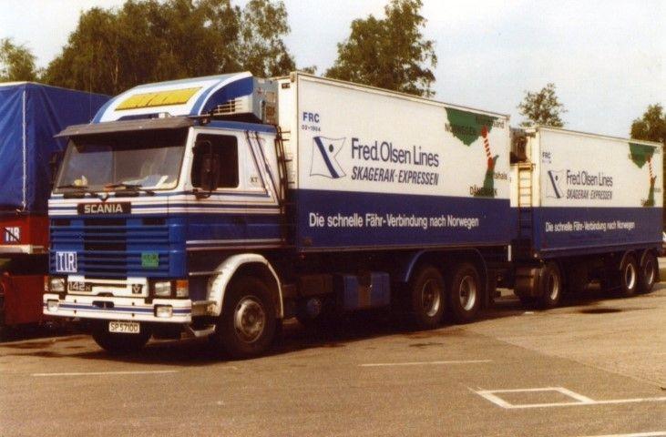 Scania 142 Kombi anhaenger Lang Transport