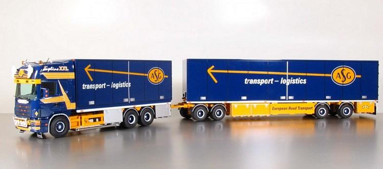 Scania 3 achs mit anhänger 4 achs  ASG