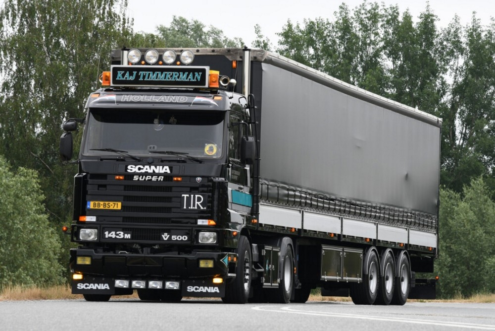 Scania 3 Series  Curtain Side Tautliner  Kaj Timmerman