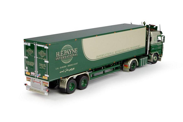Scania 3 und Volvo F88 mit Kuhlauflieger Set   Payne H E