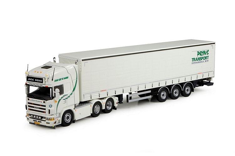 Scania 4 serie Schiebeplanen Auflieger Prins Transport