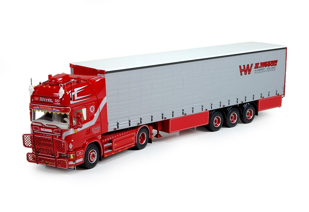 Scania 4 Serie Topline Curtainsider Weeda