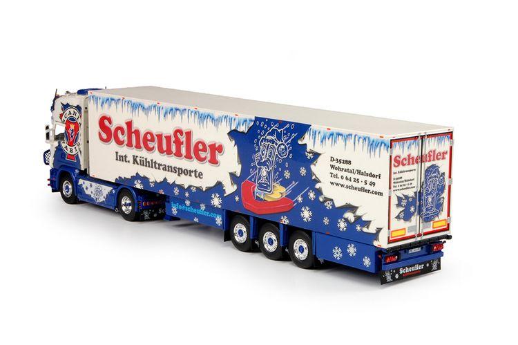Scania 4 serie Topline Kuehlauflieger Scheufler