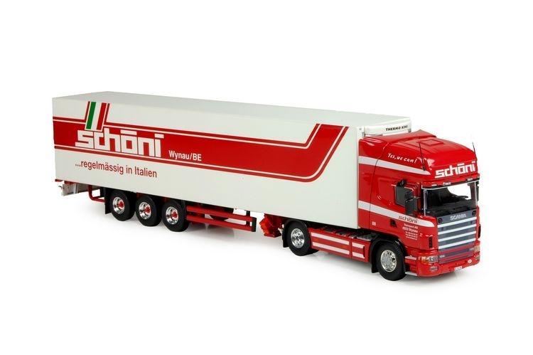 Scania 4-Serie Topline Kuehlauflieger Schoni