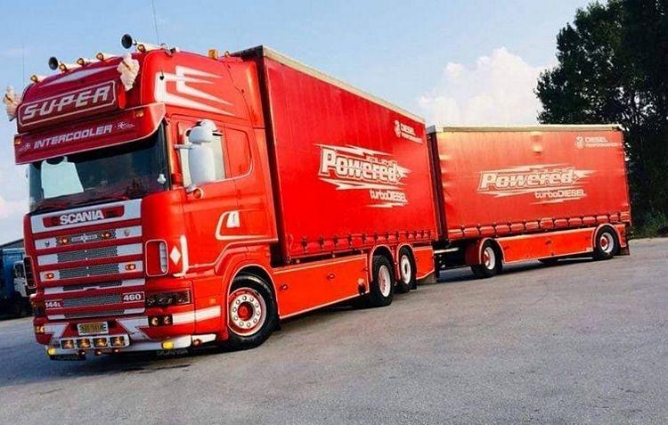 Scania 4 serie Topline Schiebeplanenkombination Zikopoulos