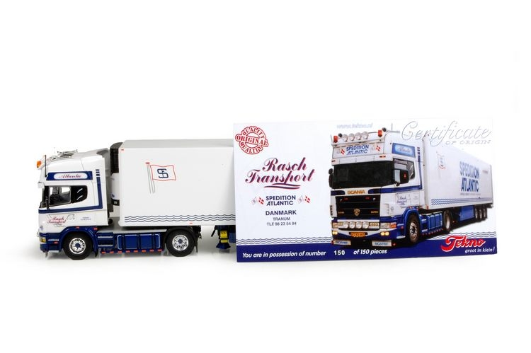 Scania 4 serie Topline zamac reefer Rasch Atlantic Transport