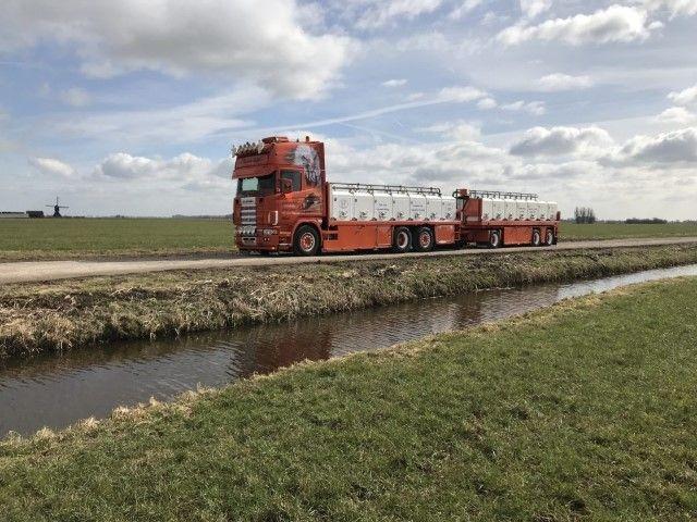 Scania 4er Topline Truck Trailer  Aal behälter Wijk Van