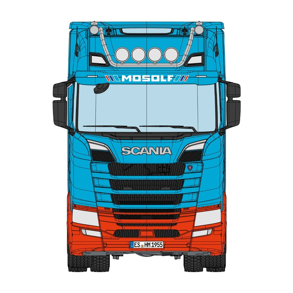 Scania 730S  Lohr Autotransporter MOSOLF 1:18