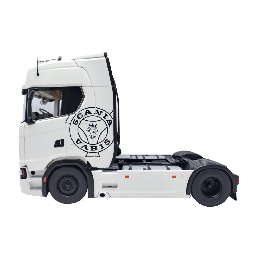 Scania 730S V8 Zugmaschine weiß - Dekor 1:18