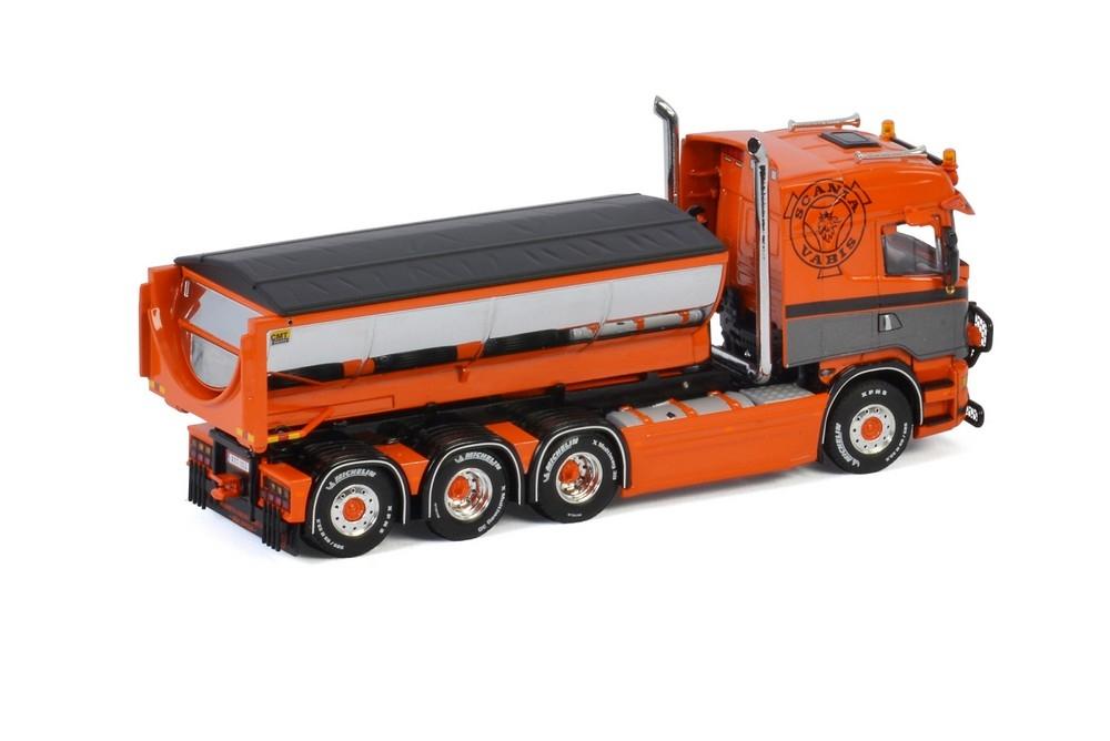 Scania  Hooklift Container Asphalt  Mark & Transport Österlen