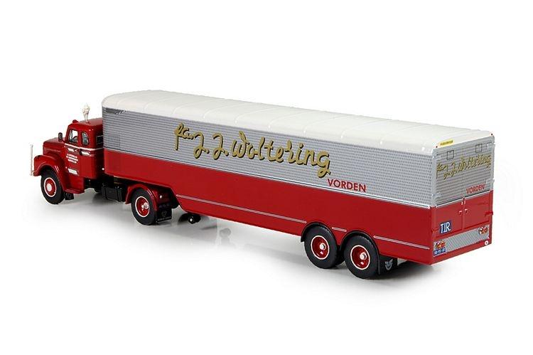Scania L Bege kastenauflieger Woltering