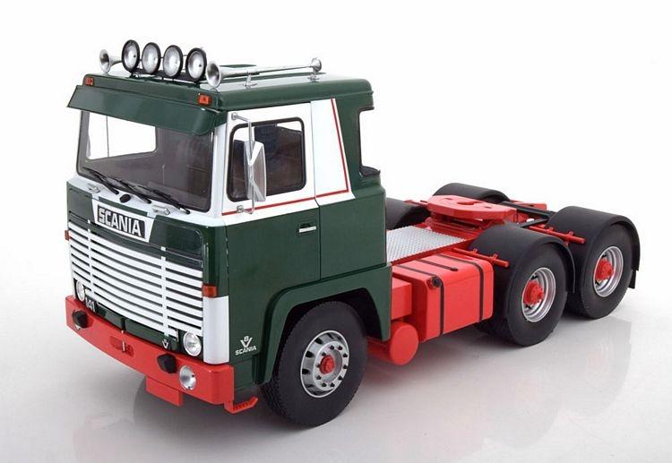 Scania LBT 141 1976 blau weiß Modellauto 1:18 Road Kings
