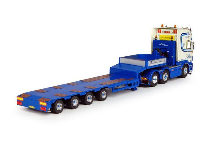Scania neu R Serie mit Goldhofer Tieflader Heuvel v d