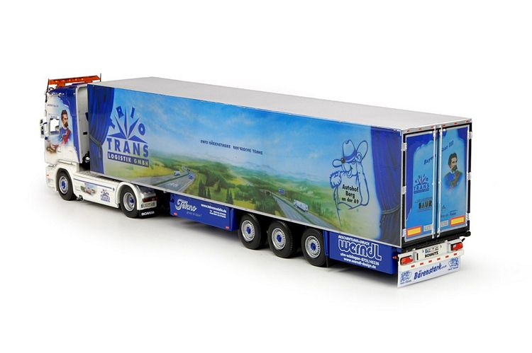 Scania neu R Serie Topline mit Kühlauflieger Triotrans