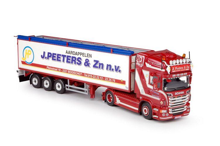 Scania neue R-serie Topline mit Kartoffeln-Auflieger Peeters