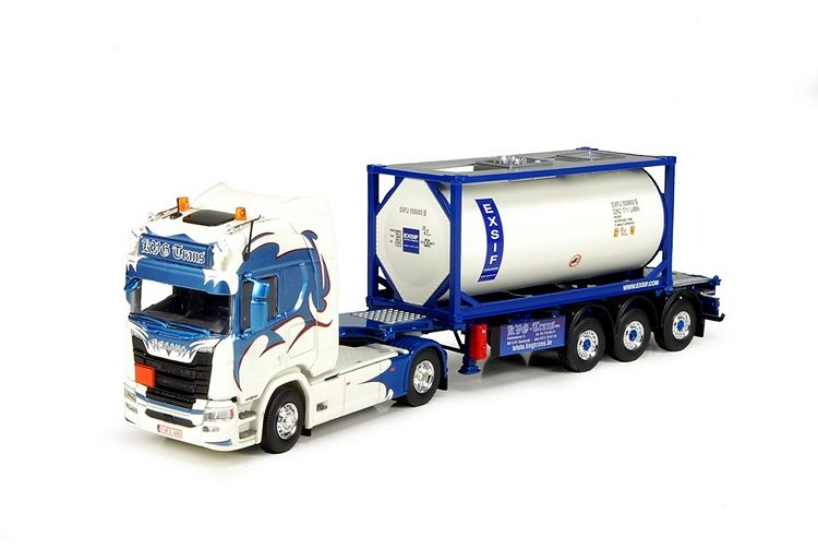 Scania NGS R-Serie Highline Exsif ISO Tankcontainer KVG Trans