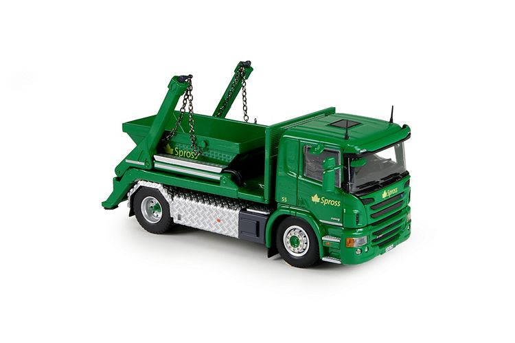 Scania P serie skip loader Spross