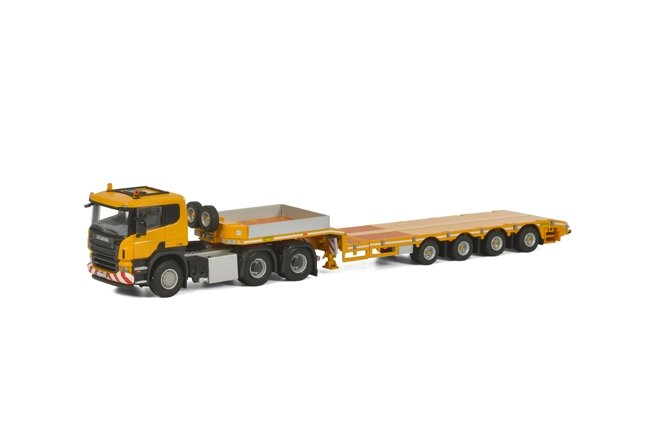 Scania P5 Flat Roof Semi Lowloader