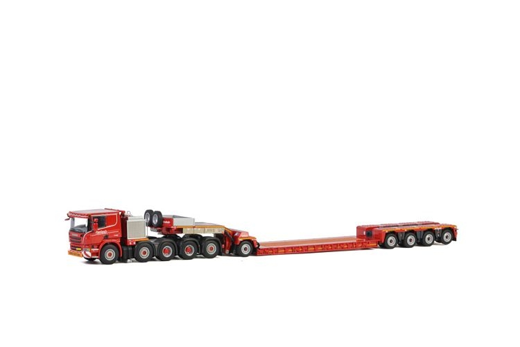Scania P6 Flat Roof Lowloader KNT Red Line