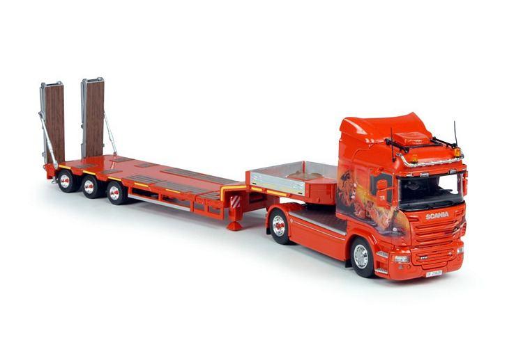 Scania R   Semi Tieflader Mayolani
