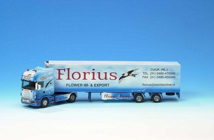 Scania R 124L  420 Topline Kuehlauflieger Florius
