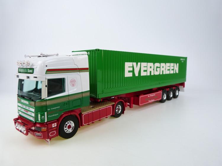 Scania R 144L 460 Topline mit Container Auflieger  Kooij  v d M