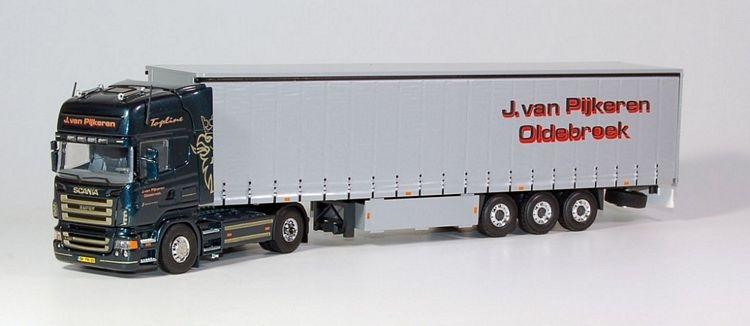 Scania R 420 Topline Curtainsider Auflieger Pijkeren J. van