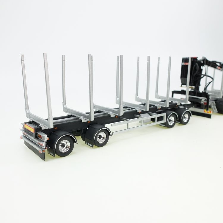 Scania R 650 V8 timber truck  drawbar trailer