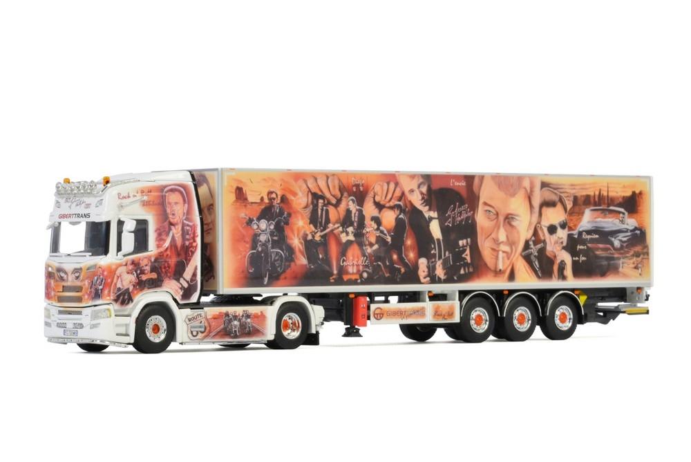 Scania R Highline CR20H Box Trailer Giberttrans Johnny Hallyday